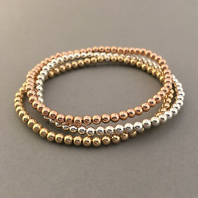 Beaded Ball Bracelet available in Gold Fill, Rose Gold Fill, or Sterling Silver Beaded Rose Gold Bracelet