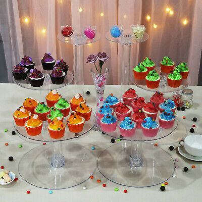 7 Tiers Clear Acrylic Wedding Party CAKE Stand Birthday Events Party Display
