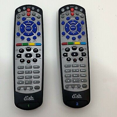 Dish Network TV1 20.1 180546 & TV2 21.0 182563 IR/UHF Remote Controls Used  for sale  Shipping to India