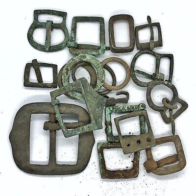 Medieval Brass Buckle Artifacts - Ca 900-1500 AD Europe - Brass Antiquities Old