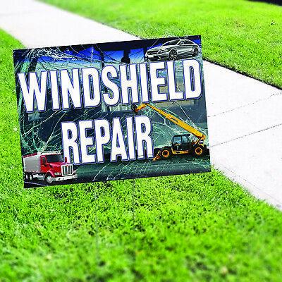 Wind Shield Repair Plastic Novelty Indoor Outdoor Coroplast Yard Sign