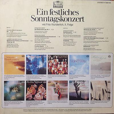Ein Festliches Sonntagskonzert - Fritz Wunderlich Folge 2 , Tenor-  Vinyl  LP F4
