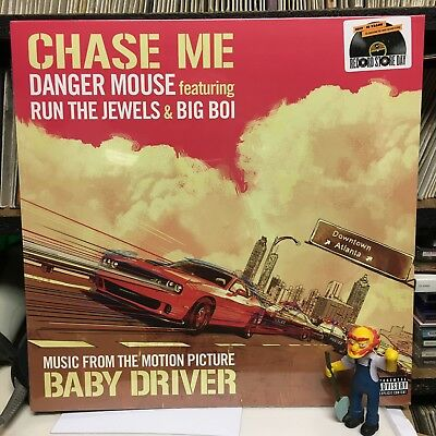 "DANGER MOUSE + RUN THE JEWELS - Chase Me 12"" Vinyl BLACK FRIDAY 2017 BABY DRIVER"