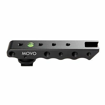 Movo SVH6 Video Stabilizing Top Handle Rig & Cold Shoe Extender for DSLR Camera