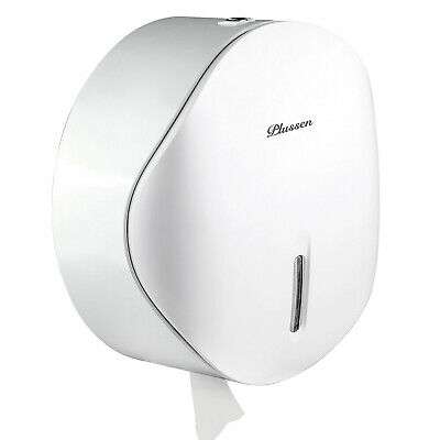 Toilet Paper Towel Dispenser Wall Mount - Lockable Design 9 Inch Roll Capacity