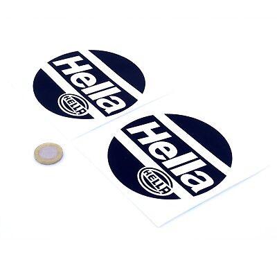Hella Stickers Rally Car Classic Car Motorbike Racing Vinyl Decals 100mm x2