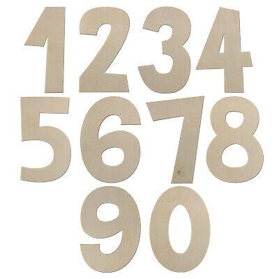 Zahlen aus Holz Größe wählbar 7,5 - 80 cm / 75 - 800 mm Klein - XXL Groß Typ2