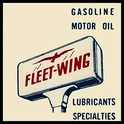 Fleet-Wing Gasoline Fridge Magnet