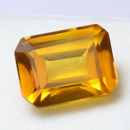 Certified UNHEATED 6.95 Ct Natural Ceylon Champagne Sapphire Loose Gemstone