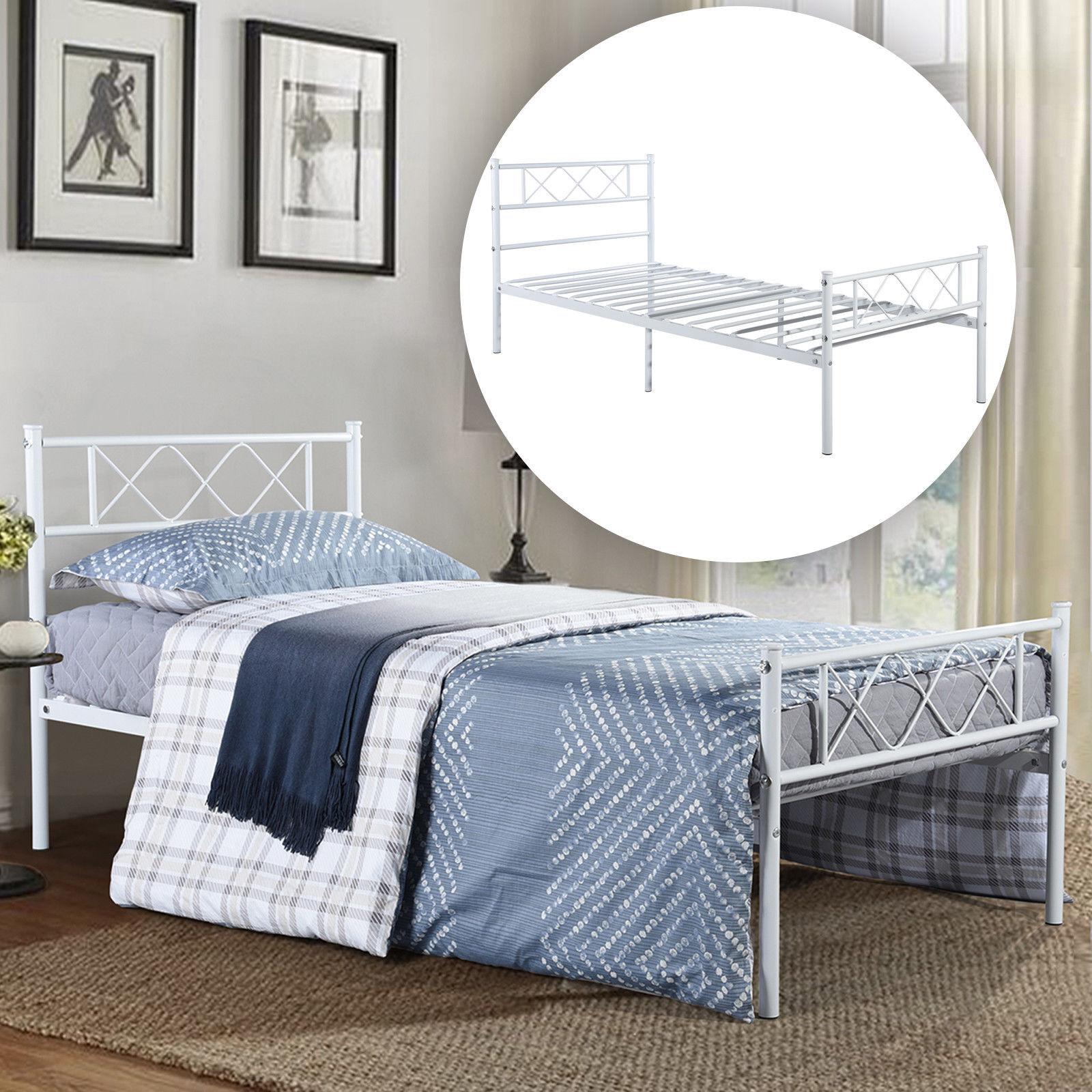 metal bed frame twin full size platform