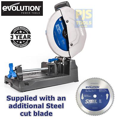 Evolution S355CPS 240v raptor 355mm tct steel cutting chop s