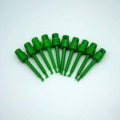 10 Pcs 57mm Test Clip Grabber Round Smd Ic Hook Probe For Multimeter Jumper P54