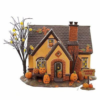 "Department 56 Halloween ""THE PUMPKIN HOUSE"" NIB FREE SHIPPING"
