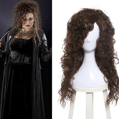 Long Brown Curly Wig Halloween (Bellatrix Lestrange Cosplay Wig Dark Brown Long Curly Wavy Rhapsody)