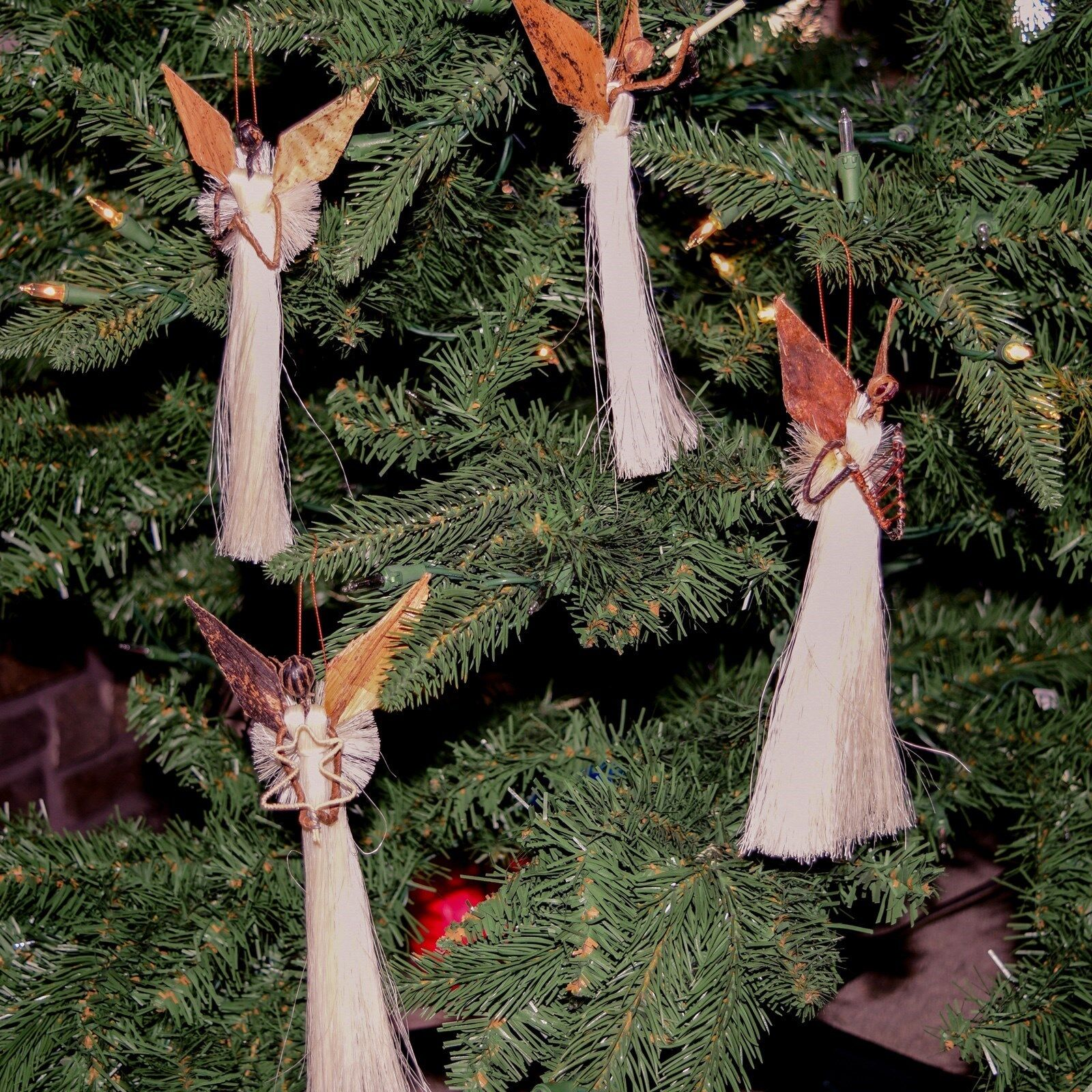 Angel Christmas Ornament Bided  Angel Rustic Ornament Home Decor