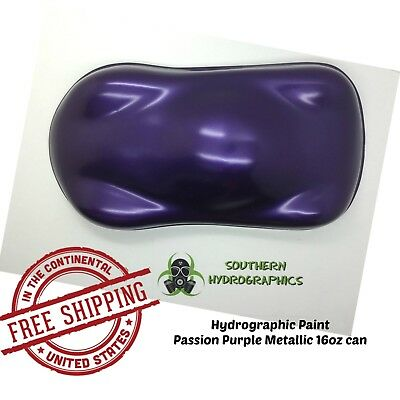 Hydrographic Film Hydro Dip Paint Base Coat 16oz Aerosol Passion Purple Metallic