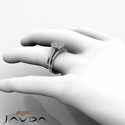 Milgrain Halo Pave Bezel Set Round Cut Diamond Engagement Ring GIA D VVS1 1.40Ct 3