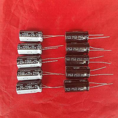 10pcs 2200uf 2200mfd 25v Electrolytic Capacitor 105 Degrees Usa Free Shipping