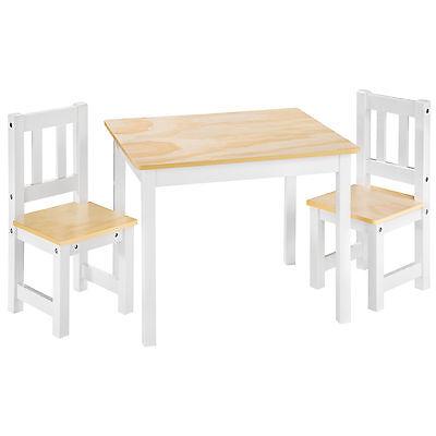 Set di mobili per bambini tavolo e 2 sedie tavolini arredamento bianco legno