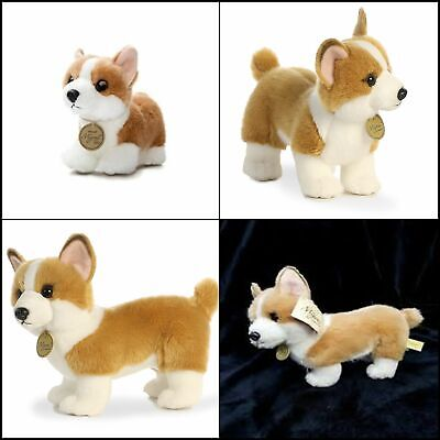 Little Corgi World Miyoni Plush Puppy Dog Tan Standing Stuffed Animal Toy Gift - Stuffed Animals Dogs