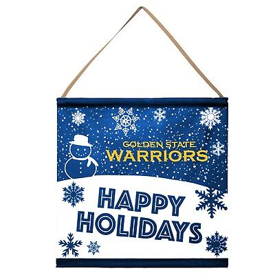 Golden State Warriors Happy Holidays Banner Sign Christmas Wall Door Decoration ()
