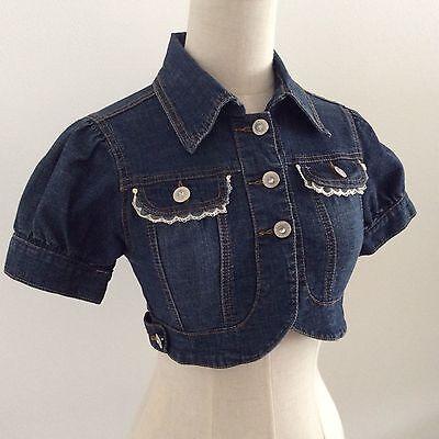 LIZ LISA short denime jacket Kawaii Japanese Gyaru Fashion Hime