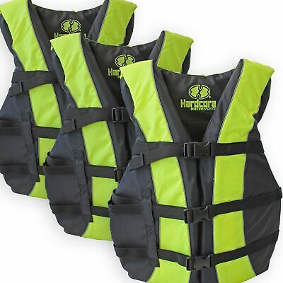 3 Pack Coast Guard Approved Life Jackets for Adults and Yout