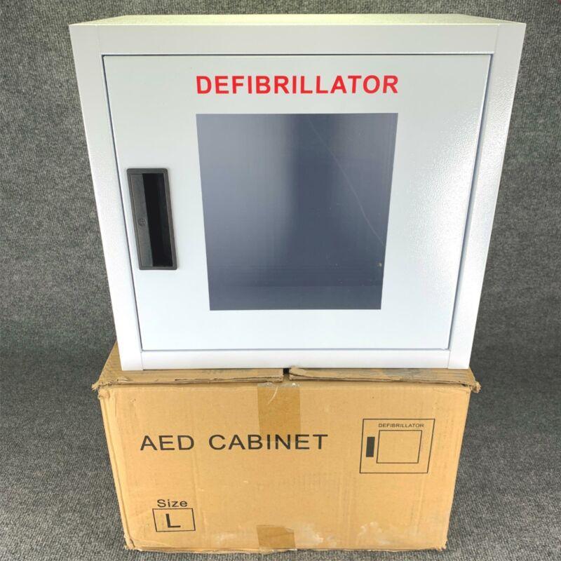 AED Cabinet Emergency Defibrillator Case Wall Mounted Public