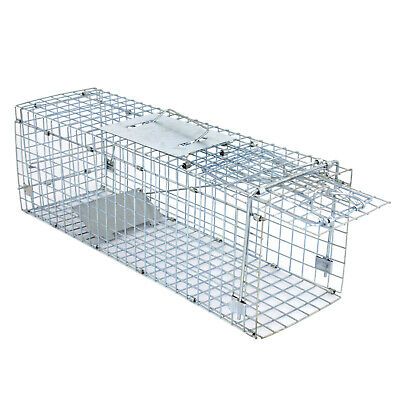 Live Animal Trap Extra Large Rodent Cage Garden Rabbit Raccoon Cat 24