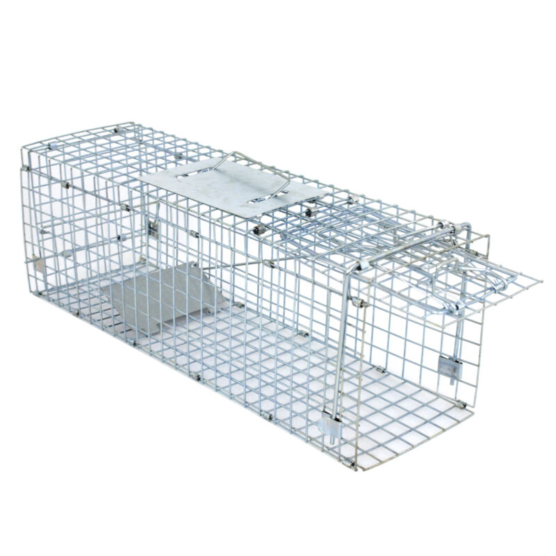 """Live Animal Trap Extra Large Rodent Cage Garden Rabbit Raccoon Cat 24""""X8""""X 7.5"""""""