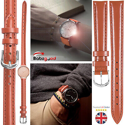 Mens Ladies Genuine Leather Wrist Replacement Watch Bands Straps UK
