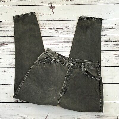 Riders By Lee Black gray Mom Jeans 18 Med Taper Vintage high waist retro 32X29.5 ()