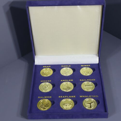 Passions By Gary K  Alaska Frontier Mint Coins Complete Set Of 9 Brass Tokens
