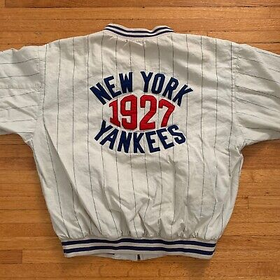 VINTAGE NEW YORK YANKEES REVERSIBLE BOMBER JACKET SZ XL COOPERSTOWN COLLECTION