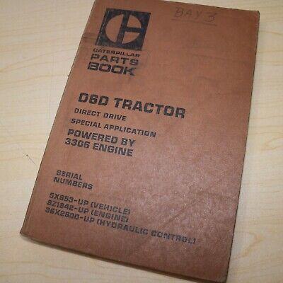 Cat Caterpillar D6d Crawler Tractor Bulldozer Parts Manual Catalog Book List 5x
