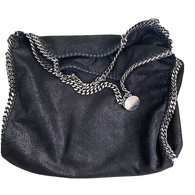 Stella McCartney Falabella 3 chain foldover Black tote bag.