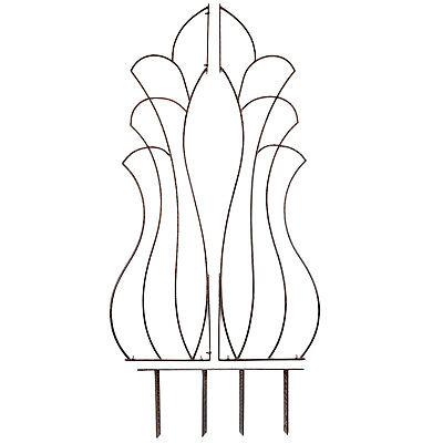 Brown Patio Trellis (GAR467 H Potter Venus Trellis, Wrought Iron, Patio, Garden, Yard Art, Wall Art )