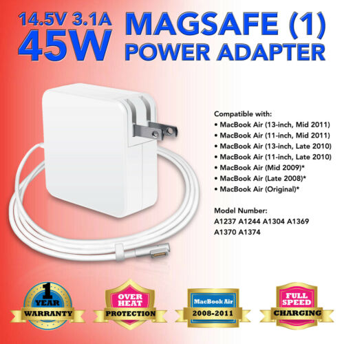 """45W AC Adapter Charger for 11"""" 13"""" Apple Macbook Air 2009 2010 2011 A1370 A1374"""