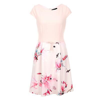 Comma Damen Kleider Gewand Kurzarmkleid Sommerkleid Partykleid Kleidung Mode