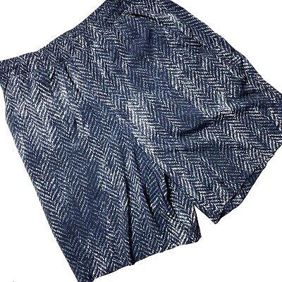 "Lululemon Pace Breaker 9"" Shorts Men's Size Medium Zig Zag Knit Print Blue White"