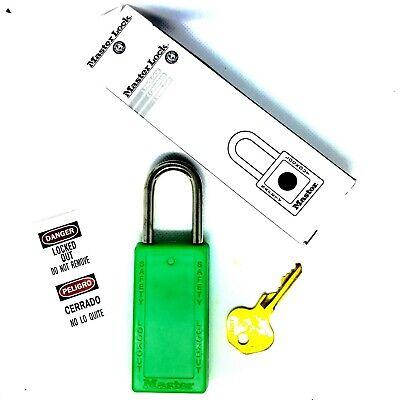 Master Lock 411grn Lockout Tagout Safety Padlock Green