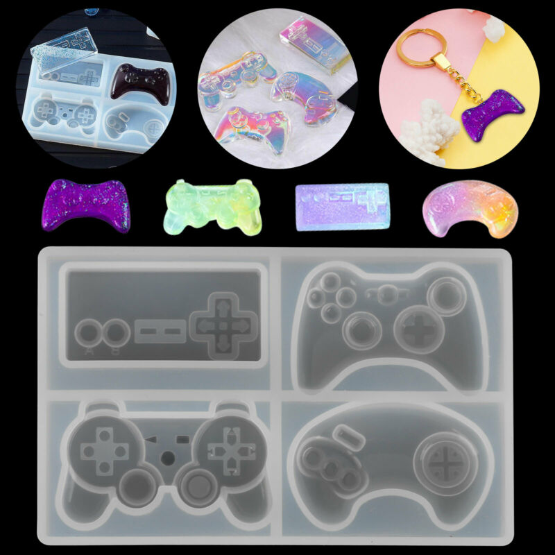 Game Consoles Handle Resin Silicone Molds for Epoxy Mould DIY Making Keychain