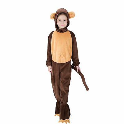 Kids Animal monkey Costumes Dance Costume Fancy Dress Child Girls Boys Outfit