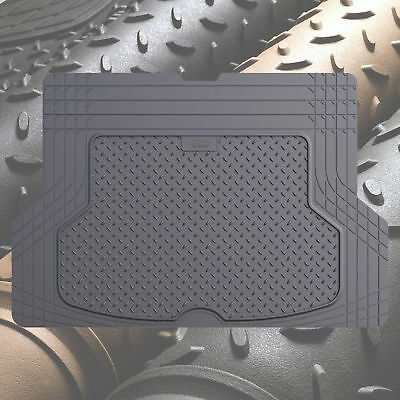 Trunk Cargo Floor Mats for Cars All Weather Rubber Gray Heavy Duty Auto Liners