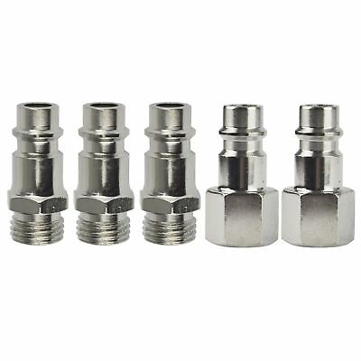 Euro Air Line Hose Compressor Fittings Connector Male Quick Release 5 Pack 14
