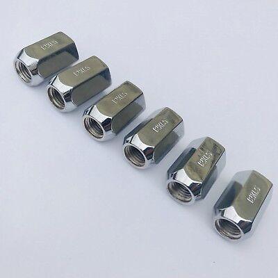 Lot Of 6 Dorman Products 611 213 Wheel Nut Chrome 12 X 1 5