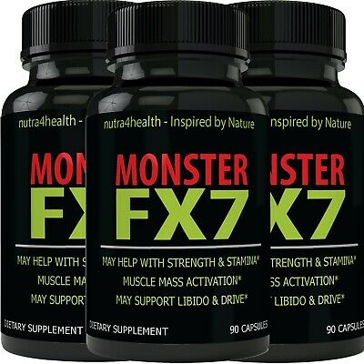 Monster FX7 Male Enhancement 3 Bottle Pack Supplement Advanced Enhancing Pills