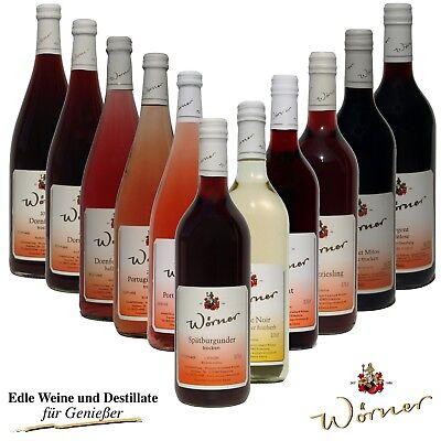 WEINGUT WÖRNER: 12 Fl. Pfälzer Wein für Weinprobe - Rotwein + Rosé Probierpaket