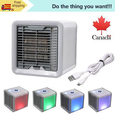Household LED Air Personal Cooler Air Conditioner Water Cooling Fan Bedroom CA