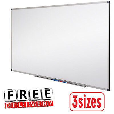 Magnetic Dry Erase White Board 3 Sizes Office School Supplies Aluminium Frames